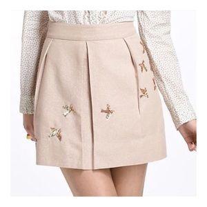 ANTHRO Leifnotes Sequin Dove Shimmer Mini Skirt 2